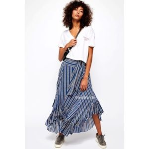 NEW Free People FP One Giselle Skirt L Large Navy